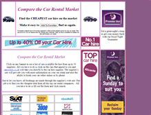Tablet Preview of comparethecarrentalmarket.co.uk